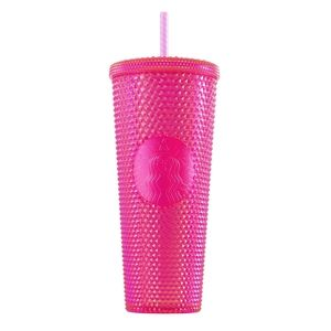 *RARE* Starbucks Neon Pink Studded Cold Cup 24oz